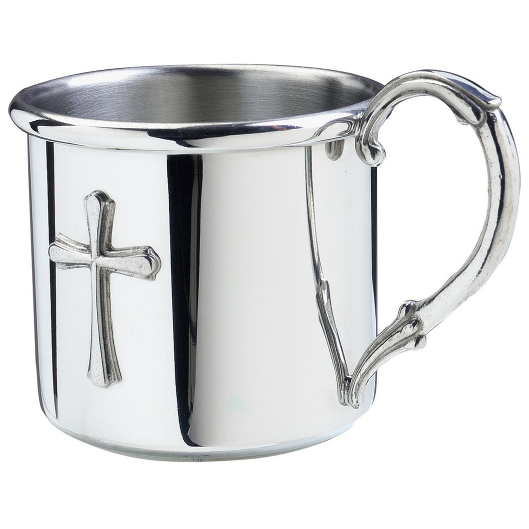 Silver Baby Cup with Cross
