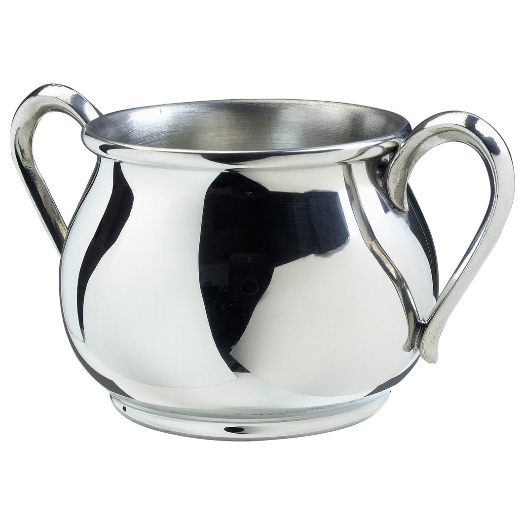 Silver Bulged Double Handle Baby Cup