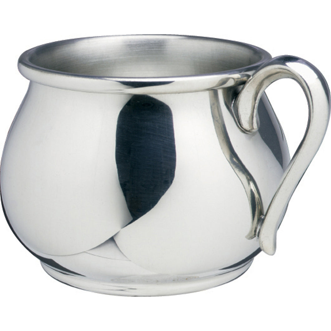 Silver Bulged Baby Cup