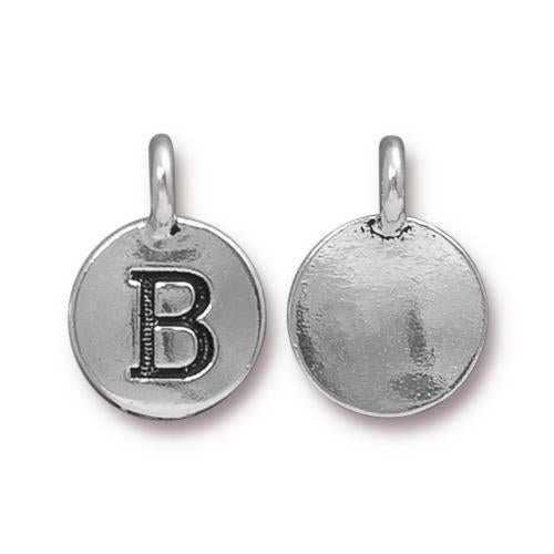 Silver Initial Charm - Letter B