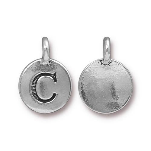 Silver Initial Charm - Letter C