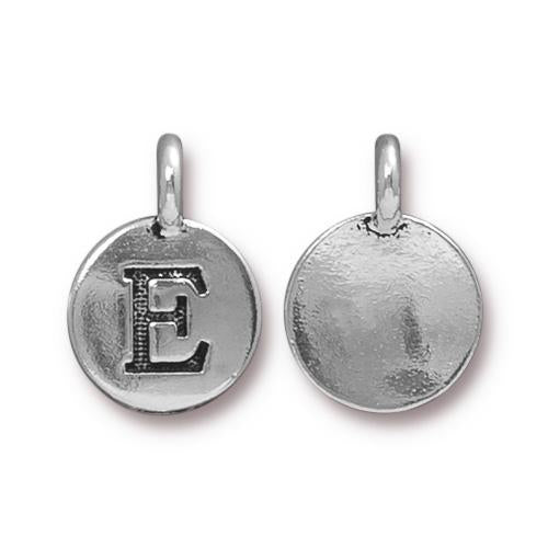 Silver Initial Charm - Letter E