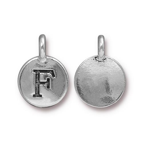Silver Initial Charm - Letter F