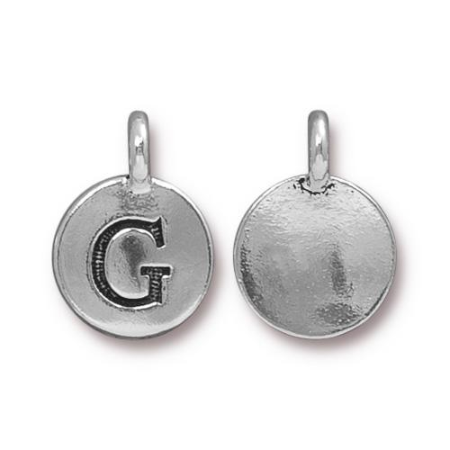 Silver Initial Charm - Letter G