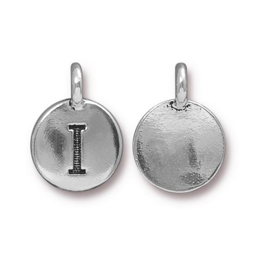Silver Initial Charm - Letter I