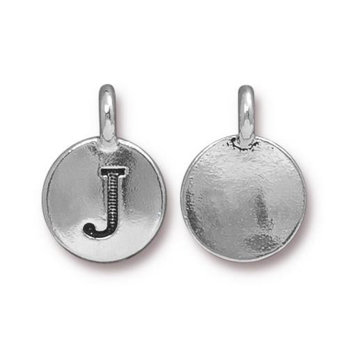 Silver Initial Charm - Letter J