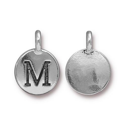 Silver Initial Charm - Letter M