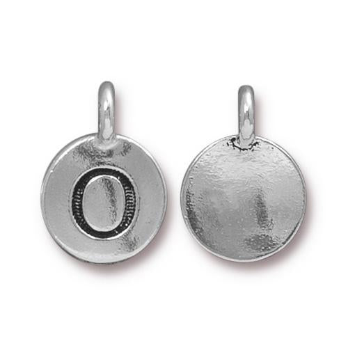 Silver Initial Charm - Letter O
