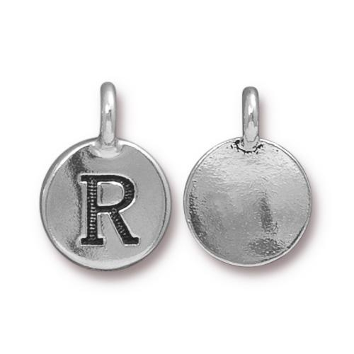 Silver Initial Charm - Letter R