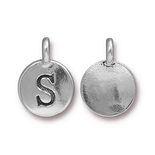 Silver Initial Charm - Letter S