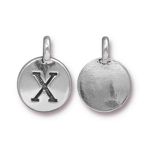 Silver Initial Charm - Letter X