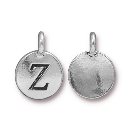 Silver Initial Charm - Letter Z