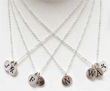 Load image into Gallery viewer, Sterling-Silver-initial-charm-necklaces-templeton-silver.jpg