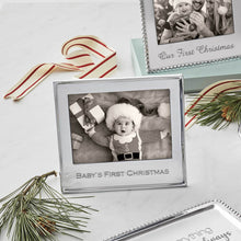 Load image into Gallery viewer, Baby's First Christmas Silver 5x7 Frame-2