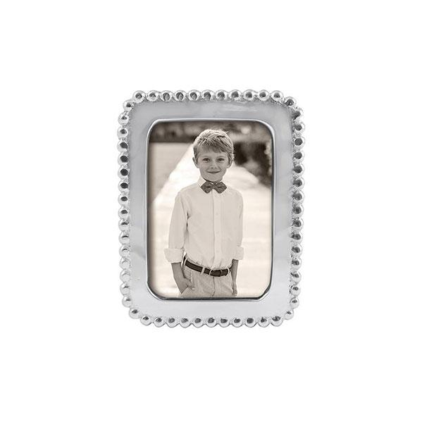 Beaded 2x3 Silver Picture Frame