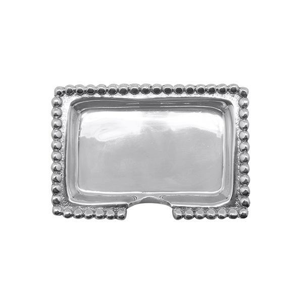 Silver Beaded Business Card Holder Templeton Silver