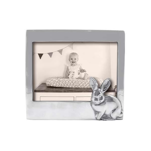 Silver 5x7 Bunny Picture Frame