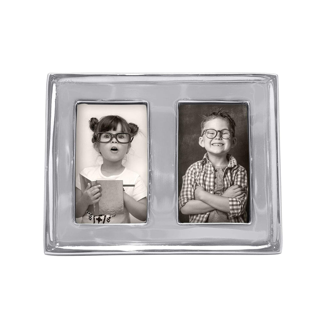 Double 2x3 Silver Picture Frame