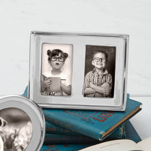 Load image into Gallery viewer, Double 2x3 Silver Picture Frame