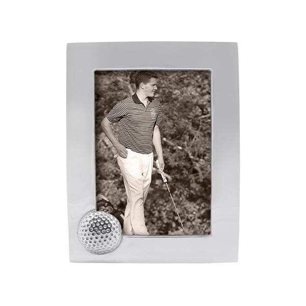 Silver Golf Ball Picture Frame