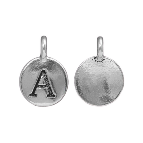 Silver Initial Charm - Letter A