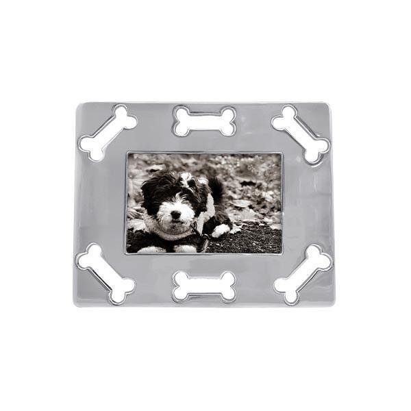 Dog Bone Border Silver Picture Frame