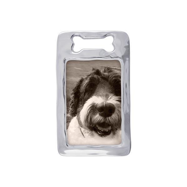 Dog Bone Silver Picture Frame