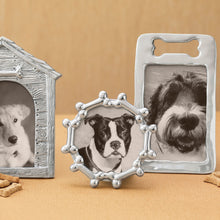 Load image into Gallery viewer, Dog Bone Border Silver Picture Frame