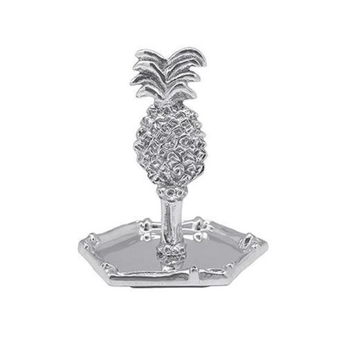 Silver Pineapple Ring Dish