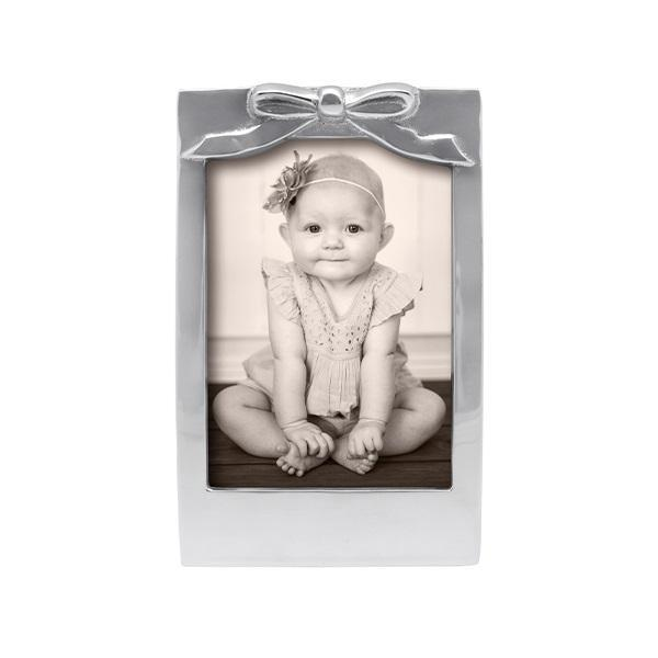 Silver 5x7 Bow Picture Frame