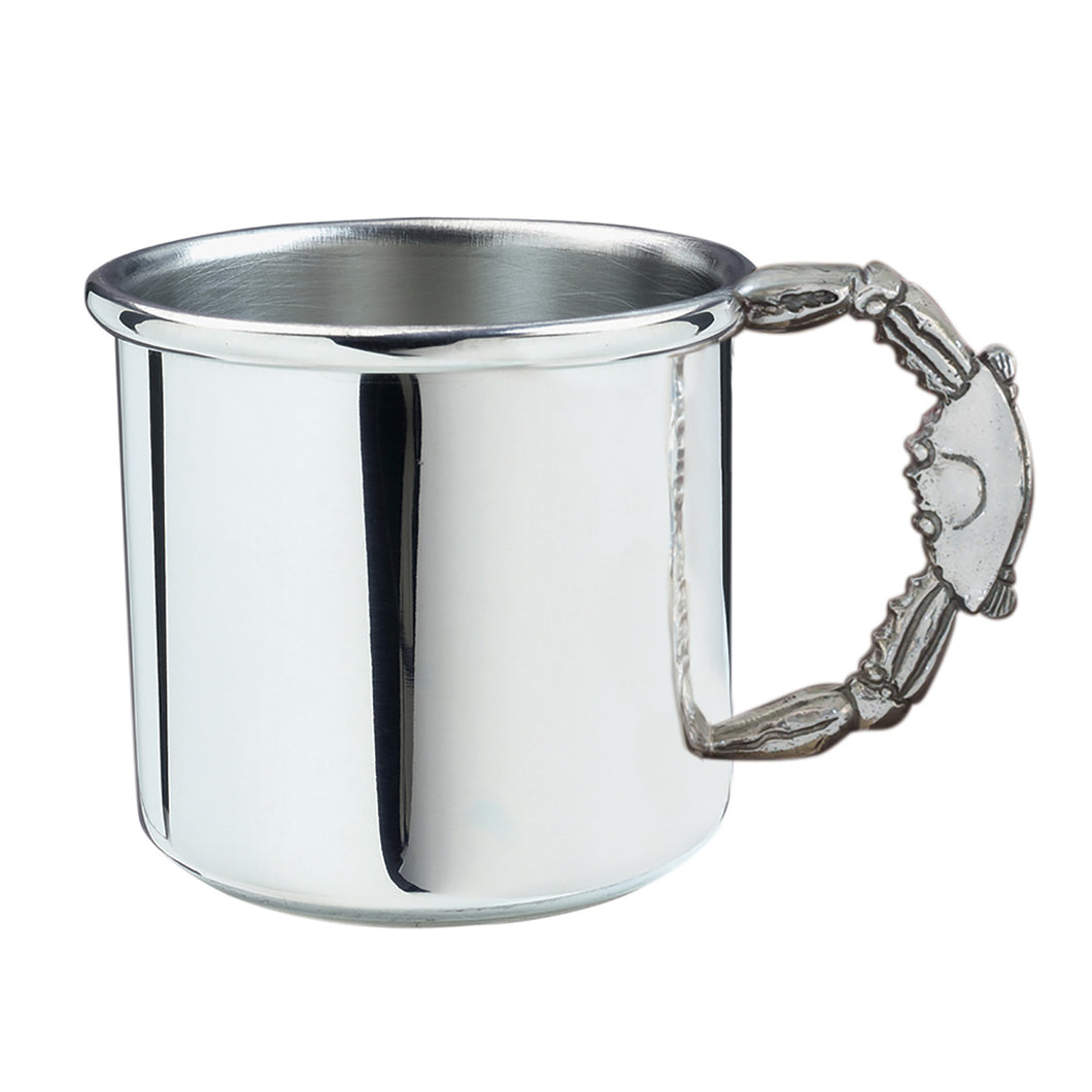 Silver Baby Cup with Crab Handle