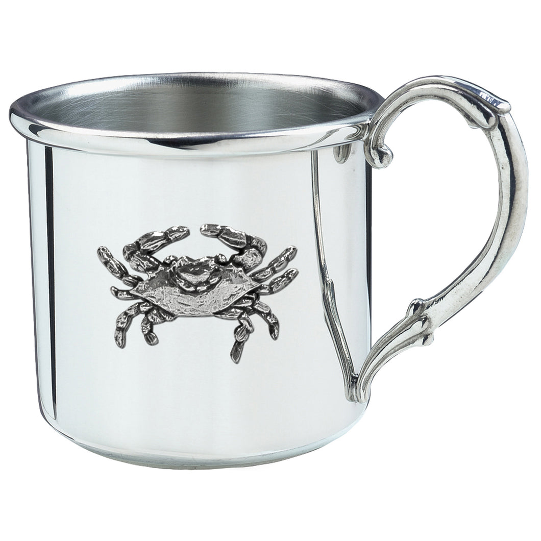 Silver Baby Cup with Crab
