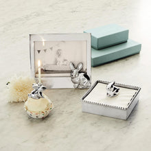 Load image into Gallery viewer, Silver Bunny Candle Holder Lifestyle (For Birthday Cake)