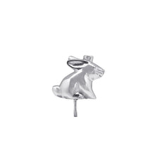 Load image into Gallery viewer, Silver Bunny Candle Holder (For Birthday Cake)