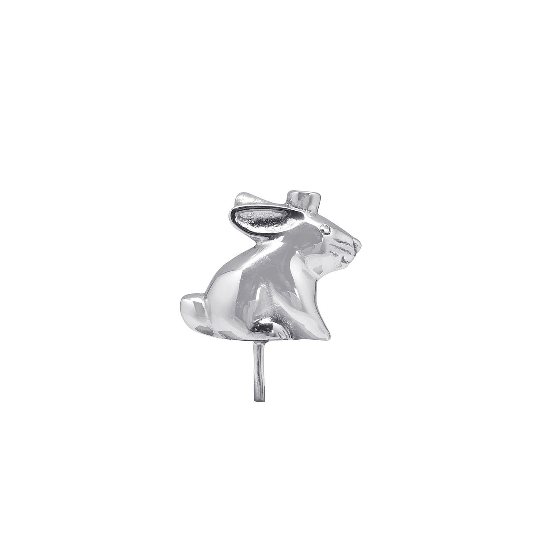 Silver Bunny Candle Holder (For Birthday Cake)
