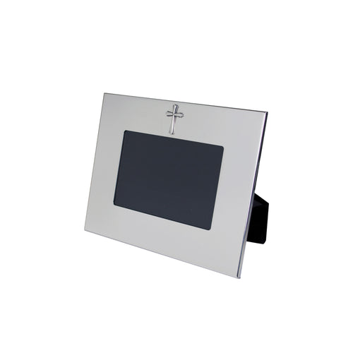 Silver Cross Picture Frame - Horizontal