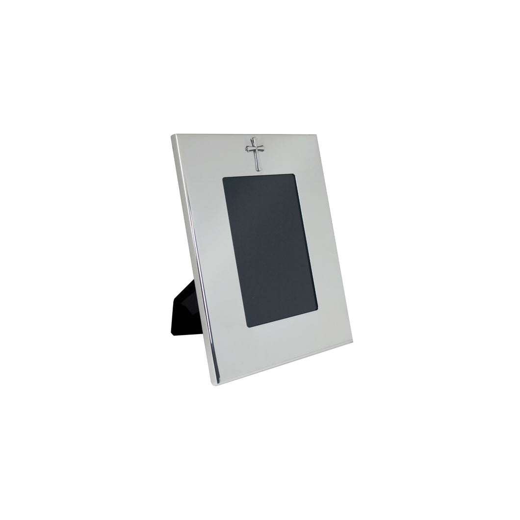 Silver Cross Picture Frame - Verticle