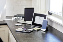 Load image into Gallery viewer, Silver iPad Tablet Holder (lifestyle shot 2)