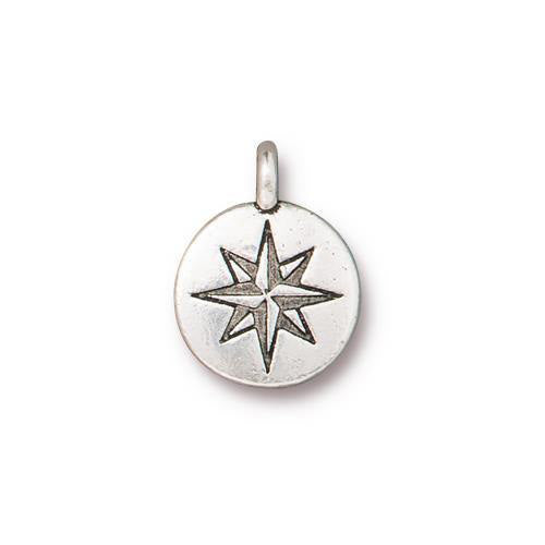 Silver North Star Charm