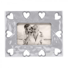 Load image into Gallery viewer,  Silver Open Hearts Picture Frame