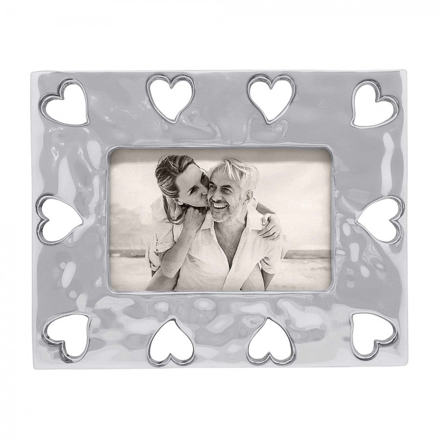 Silver Open Hearts Picture Frame