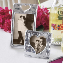 Load image into Gallery viewer, Silver Small Square Open Heart Picture Frame