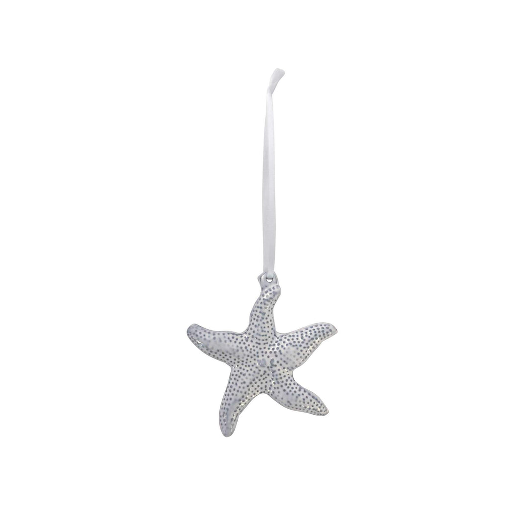 Silver Starfish Ornament