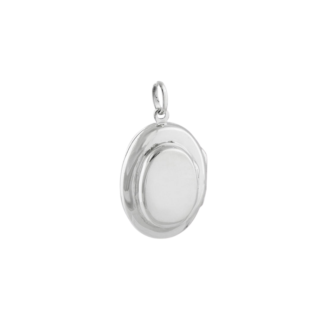 Sterling Silver 4-Photo Oval Locket