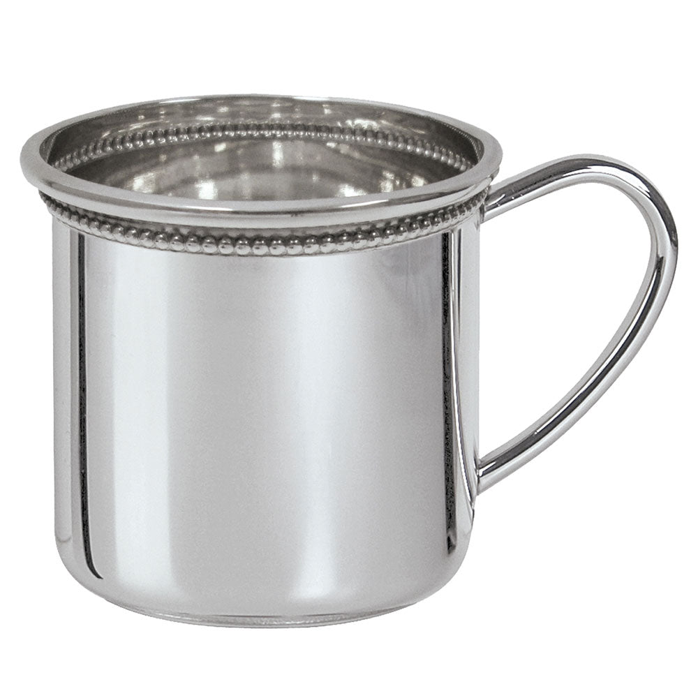 Sterling Silver Baby Cup - Cambridge Cup with Beading
