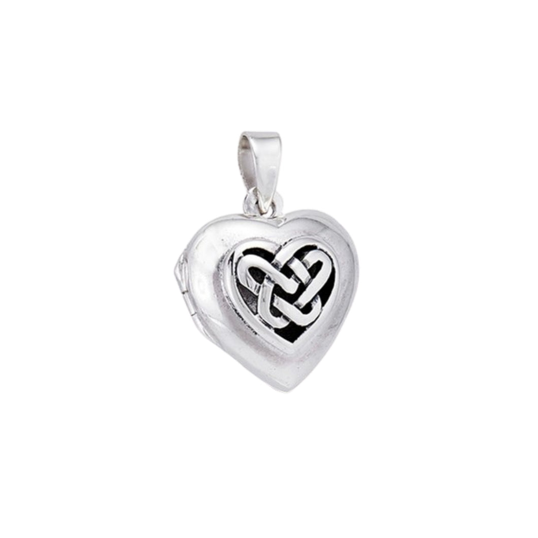 Sterling Silver Celtic Weave Heart Locket