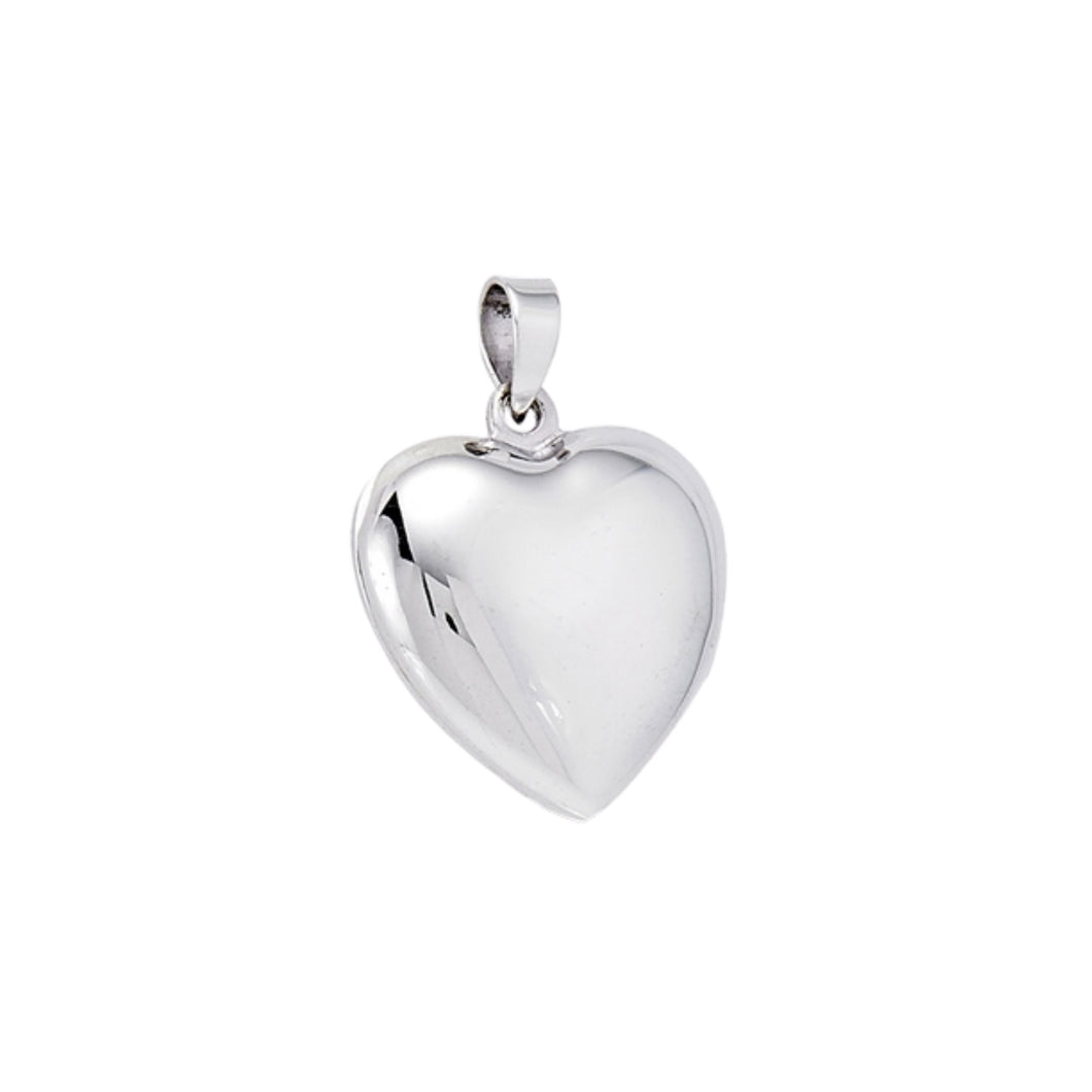 Sterling Silver Rounded Heart Locket