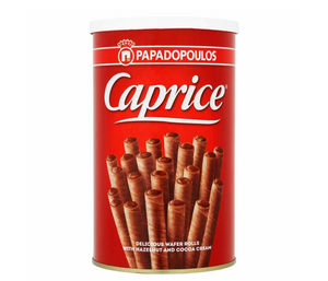 Caprice Wafer Classic Hazelnut and Cocoa Cream Rolls - 250 gm