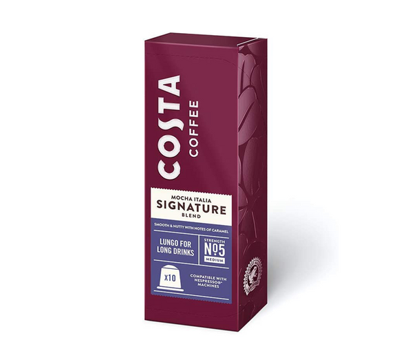 Costa Lungo Coffee Pods, Mocha Italia Signature Blend Medium - 5