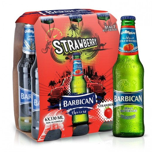 Barbican Strawberry Malt Beverage 6x330 ml